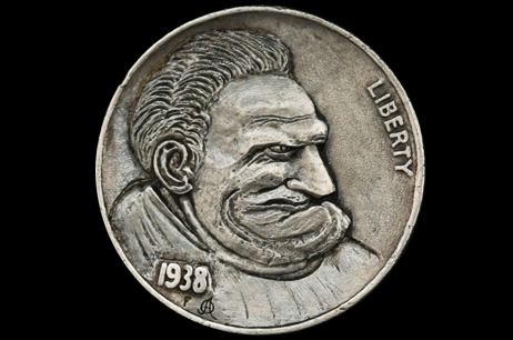 """Emotions of Renaissance 3""  Hobo nickel"