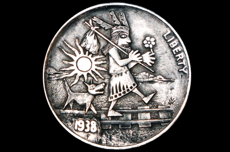 'The Free Spirit of Crazy Wisdom'  Hobo nickel