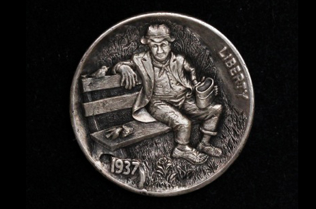 """First come-first served""  Hobo nickel"