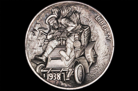 """Do not stay on my way""  Hobo nickel"