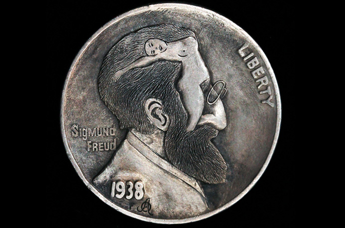 """Man I Read Your Mind""  Hobo nickel"