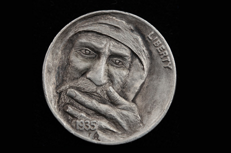"""The Weight of Being"" Hobo nickel"