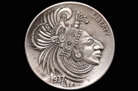 """Aztec"" Hobo nickel"