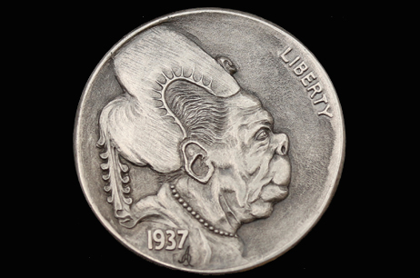 """Emotions of Renaissance 4″ Hobo nickel"