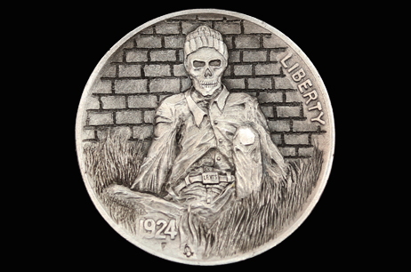 """Stayed too Long"" Hobo nickel"
