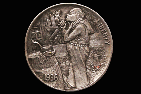 """LG. Morning Delight"" Hobo nickel with inlay"