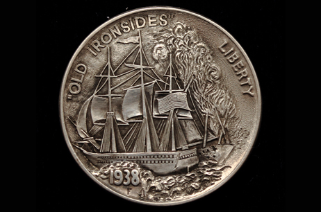 """Old Ironsides"" Hobo nickel"