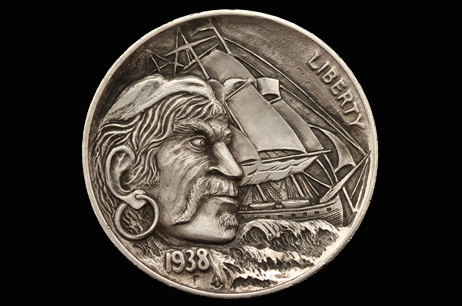 """Pirate"" Hobo nickel"