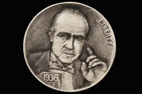""" The Godfather"" Hobo nickel"